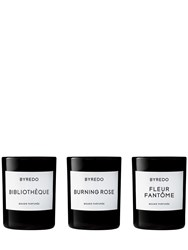 Byredo La Selection Violette Set Of 3 Candles Transparent