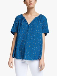 John Lewis Collection Weekend By Lavna Emila Floral Blouse Blue Multi