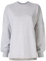 Alexander Wang T By Dry French Terry Sweatshirt Grey
