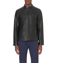 Ted Baker Classic Leather Jacket Black