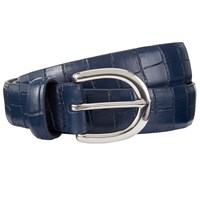 John Lewis Gracie Leather Jeans Belt Navy