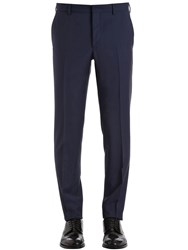 Prada 17Cm Slim Fit Virgin Wool And Mohair Pants Navy