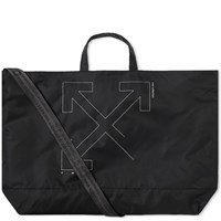 Off White Unfinished 3M Arrows Tote Black