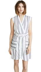 Ayr The Bomb Dress White And Navy Stripe