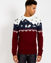 The Idle Man Christmas Jumper With Mountain Scene