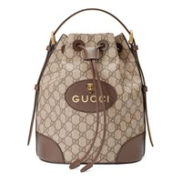 Gucci Gg Supreme Backpack Beige