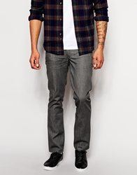 Boss Orange Jeans In Slim Fit Grey Denim