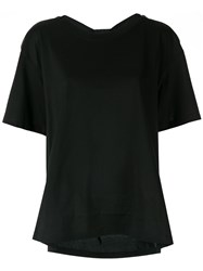 Le Ciel Bleu Drape Back T Shirt Black