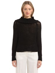 Calvin Klein Off The Shoulder Cotton Knit Sweater