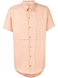 Individual Sentiments Layered Shortsleeved Shirt Nude And Neutrals