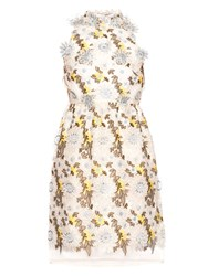 Erdem Dina Silk Organza Floral Embroidered Dress