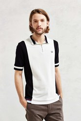 Fred Perry Contrast Panel Cycling Tee Black