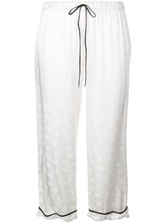 Morgan Lane Petal Trousers White