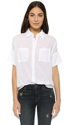 Sundry Short Sleeve Blouse White