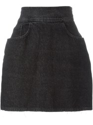 Moschino Vintage Mini Denim Skirt Black
