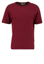 Lee Raglan Tee Basic Tshirt Dark Red Mottled Red