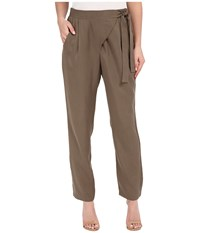 Bobeau Side Tie Trousers Grapeleaf Women's Casual Pants Taupe