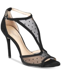 Jewel By Badgley Mischka Horizon Mesh Evening Sandals Women's Shoes Black