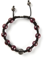 Shamballa Jewels Diamond Embellished Detail Bracelet Red
