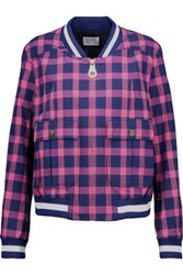 Tanya Taylor Bree Checked Cotton Blend Jacket Multi