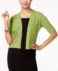 Ny Collection Elbow Sleeve High Low Knit Shrug Margarita