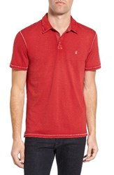 John Varvatos Men's Star Usa 'Peace' Trim Fit Polo Red Clay