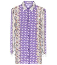 Etro Printed Silk And Cotton Shirt Multicoloured