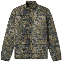 Barbour International Mark Camo Quilted Jacket Green