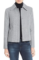 Halogenr Petite Women's Halogen Swing Jacket Black Ivory Crosshatch