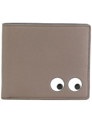 Anya Hindmarch Eyes Folded Wallet Bos Taurus Grey