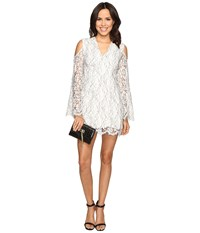 Keepsake Porcelain Long Sleeve Lace Dress Ivory Women's Dress White
