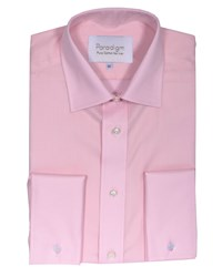 Double Two Men's Non Iron Micro Twill Shirt Pink