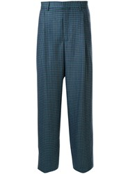 E. Tautz Check Print Tailored Trousers 60