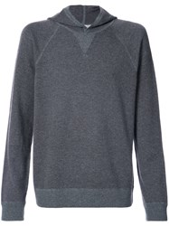 Vince Knitted Hood Jumper Cashmere Wool Grey