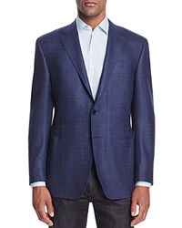 Canali Lightweight Boucle Classic Fit Sport Coat Mid Blue