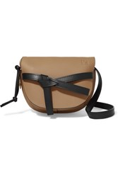 Loewe Gate Small Textured Leather Shoulder Bag Light Brown