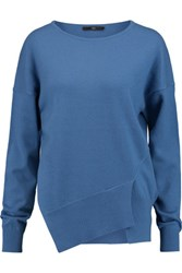 Tibi Asymmetric Cashmere Sweater Blue