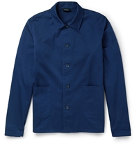 A.P.C. Cotton Gabardine Lightweight Jacket Blue