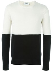 Ports 1961 Colour Block Jumper White