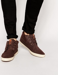 Ones Twos Chukka Boots In Brownl With Herringbone