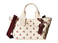 Marc By Marc Jacobs Embroidered Fruit Canvas Small Tote Off White Cherry Print Tote Handbags