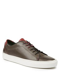 Ted Baker King Leather Cupsole Trainer Sneakers Grey
