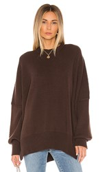 Free People Easy Street Tunic In Brown. Chocolate