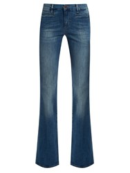 Mih Jeans Marty High Rise Flared Leg Cropped Denim
