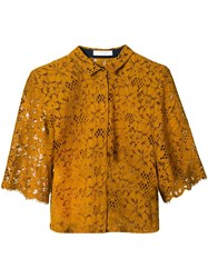 Roseanna Lace Loose Fit Shirt Yellow And Orange