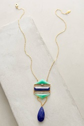 Indulgems Lapis Ladder Necklace Lapis Blue