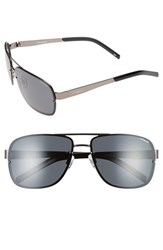 Men's Polaroid Eyewear 'Pld 2025 S' 63Mm Polarized Sunglasses Dark Ruthenium