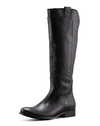 Melissa Tall Leather Riding Boot Black Frye