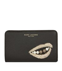 Marc Jacobs Vintage Collage Compact Wallet Female Black