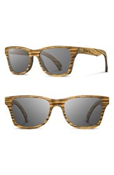 Shwood Men's 'Canby' 54Mm Wood Sunglasses Zebrawood Grey Zebrawood Grey